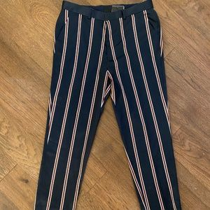 NWT Blue and Red Pinstripe Pants   ASOS